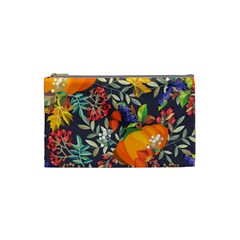 Autumn Flowers Pattern 12 Cosmetic Bag (small)  by tarastyle