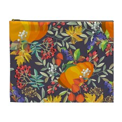 Autumn Flowers Pattern 12 Cosmetic Bag (xl) by tarastyle