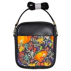 Autumn Flowers Pattern 12 Girls Sling Bags by tarastyle