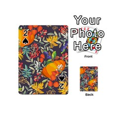 Autumn Flowers Pattern 12 Playing Cards 54 (mini)  by tarastyle