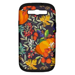 Autumn Flowers Pattern 12 Samsung Galaxy S Iii Hardshell Case (pc+silicone) by tarastyle