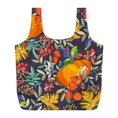 Autumn Flowers Pattern 12 Full Print Recycle Bags (l)  by tarastyle