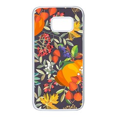 Autumn Flowers Pattern 12 Samsung Galaxy S7 White Seamless Case by tarastyle