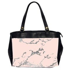 Luxurious Pink Marble 1 Office Handbags (2 Sides)  by tarastyle