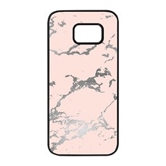 Luxurious Pink Marble 1 Samsung Galaxy S7 Edge Black Seamless Case by tarastyle