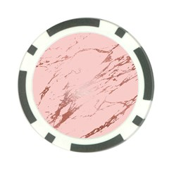 Luxurious Pink Marble 3 Poker Chip Card Guard by tarastyle