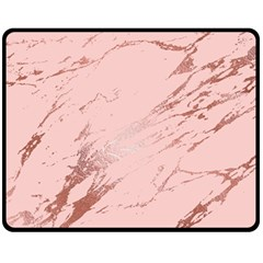 Luxurious Pink Marble 3 Fleece Blanket (medium)  by tarastyle