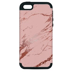Luxurious Pink Marble 3 Apple Iphone 5 Hardshell Case (pc+silicone) by tarastyle