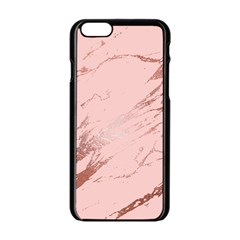 Luxurious Pink Marble 3 Apple Iphone 6/6s Black Enamel Case by tarastyle