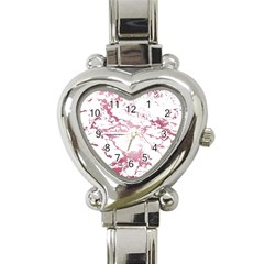 Luxurious Pink Marble 4 Heart Italian Charm Watch by tarastyle