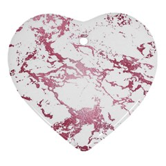 Luxurious Pink Marble 4 Heart Ornament (two Sides)