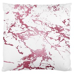 Luxurious Pink Marble 4 Large Cushion Case (one Side) by tarastyle