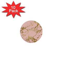 Luxurious Pink Marble 5 1  Mini Buttons (10 Pack)