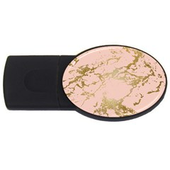 Luxurious Pink Marble 5 Usb Flash Drive Oval (4 Gb) by tarastyle