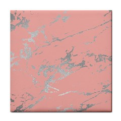 Luxurious Pink Marble 6 Tile Coasters by tarastyle