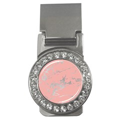 Luxurious Pink Marble 6 Money Clips (cz)  by tarastyle