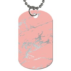 Luxurious Pink Marble 6 Dog Tag (two Sides) by tarastyle