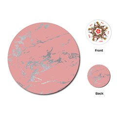 Luxurious Pink Marble 6 Playing Cards (round)