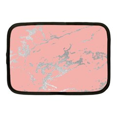 Luxurious Pink Marble 6 Netbook Case (medium)  by tarastyle