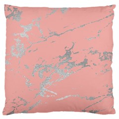 Luxurious Pink Marble 6 Large Cushion Case (one Side) by tarastyle