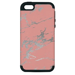Luxurious Pink Marble 6 Apple Iphone 5 Hardshell Case (pc+silicone) by tarastyle