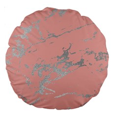Luxurious Pink Marble 6 Large 18  Premium Round Cushions by tarastyle
