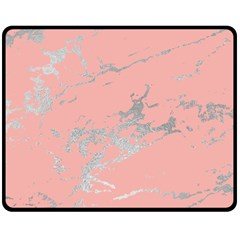 Luxurious Pink Marble 6 Double Sided Fleece Blanket (medium)  by tarastyle