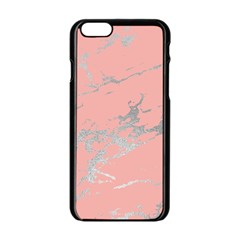 Luxurious Pink Marble 6 Apple Iphone 6/6s Black Enamel Case by tarastyle