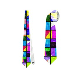 Colorful Squares Pattern                             Necktie by LalyLauraFLM