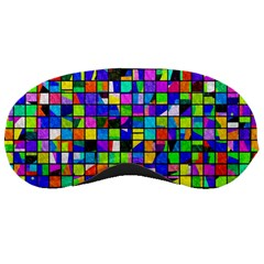 Colorful Squares Pattern                             Sleeping Mask by LalyLauraFLM