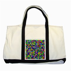 Colorful Squares Pattern                             Two Tone Tote Bag
