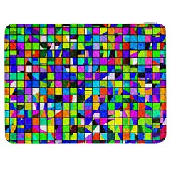Colorful Squares Pattern                       Htc One M7 Hardshell Case by LalyLauraFLM