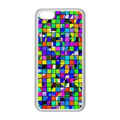 Colorful Squares Pattern                       Apple Iphone 5c Seamless Case (black) by LalyLauraFLM
