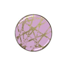 Modern,abstract,hand Painted, Gold Lines, Pink,decorative,contemporary,pattern,elegant,beautiful Hat Clip Ball Marker (10 Pack) by 8fugoso