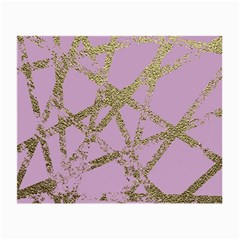 Modern,abstract,hand Painted, Gold Lines, Pink,decorative,contemporary,pattern,elegant,beautiful Small Glasses Cloth (2 Side)