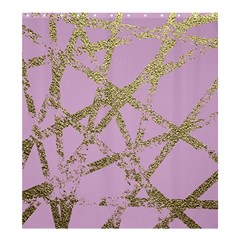 Modern,abstract,hand Painted, Gold Lines, Pink,decorative,contemporary,pattern,elegant,beautiful Shower Curtain 66  X 72  (large)  by 8fugoso