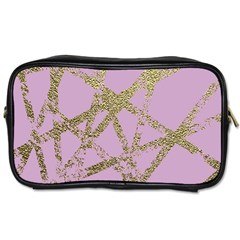 Modern,abstract,hand Painted, Gold Lines, Pink,decorative,contemporary,pattern,elegant,beautiful Toiletries Bags by 8fugoso