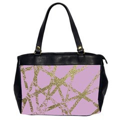 Modern,abstract,hand Painted, Gold Lines, Pink,decorative,contemporary,pattern,elegant,beautiful Office Handbags (2 Sides)  by 8fugoso