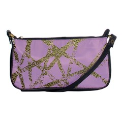 Modern,abstract,hand Painted, Gold Lines, Pink,decorative,contemporary,pattern,elegant,beautiful Shoulder Clutch Bags by 8fugoso