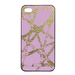 Modern,abstract,hand Painted, Gold Lines, Pink,decorative,contemporary,pattern,elegant,beautiful Apple Iphone 4/4s Seamless Case (black) by 8fugoso
