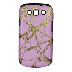 Modern,abstract,hand Painted, Gold Lines, Pink,decorative,contemporary,pattern,elegant,beautiful Samsung Galaxy S Iii Classic Hardshell Case (pc+silicone) by 8fugoso