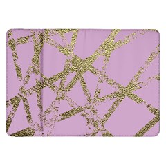 Modern,abstract,hand Painted, Gold Lines, Pink,decorative,contemporary,pattern,elegant,beautiful Samsung Galaxy Tab 8 9  P7300 Flip Case by 8fugoso