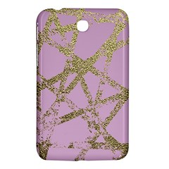 Modern,abstract,hand Painted, Gold Lines, Pink,decorative,contemporary,pattern,elegant,beautiful Samsung Galaxy Tab 3 (7 ) P3200 Hardshell Case  by 8fugoso