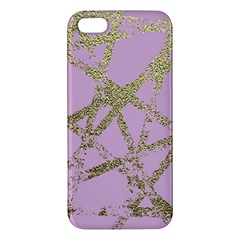 Modern,abstract,hand Painted, Gold Lines, Pink,decorative,contemporary,pattern,elegant,beautiful Iphone 5s/ Se Premium Hardshell Case by 8fugoso