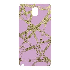 Modern,abstract,hand Painted, Gold Lines, Pink,decorative,contemporary,pattern,elegant,beautiful Samsung Galaxy Note 3 N9005 Hardshell Back Case by 8fugoso