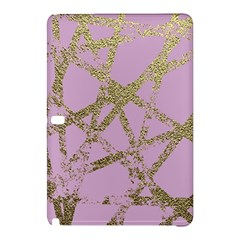 Modern,abstract,hand Painted, Gold Lines, Pink,decorative,contemporary,pattern,elegant,beautiful Samsung Galaxy Tab Pro 10 1 Hardshell Case by 8fugoso