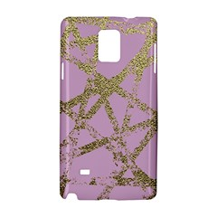 Modern,abstract,hand Painted, Gold Lines, Pink,decorative,contemporary,pattern,elegant,beautiful Samsung Galaxy Note 4 Hardshell Case by 8fugoso