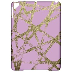 Modern,abstract,hand Painted, Gold Lines, Pink,decorative,contemporary,pattern,elegant,beautiful Apple Ipad Pro 9 7   Hardshell Case by 8fugoso