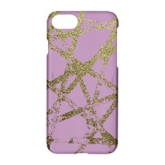 Modern,abstract,hand Painted, Gold Lines, Pink,decorative,contemporary,pattern,elegant,beautiful Apple Iphone 7 Hardshell Case by 8fugoso