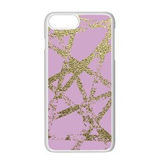 Modern,abstract,hand Painted, Gold Lines, Pink,decorative,contemporary,pattern,elegant,beautiful Apple Iphone 7 Plus Seamless Case (white) by 8fugoso